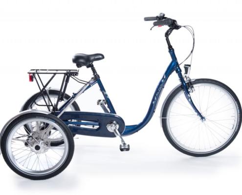 elektrische driewieler, driewieler e-bike, elektrische driewieler leasen, driewieler leasen, invalide fiets leasen, invalidefiets leasen, e-bike leasen, elektrische fiets leasen, driewieler blauw, driewieler aldo